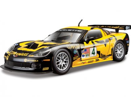 Bburago Chevrolet Corvette C6R 1:24 žlutá - BB18-28003
