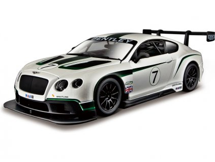 Bburago Bentley Continental GT3 1:24 bílá - BB18-28008