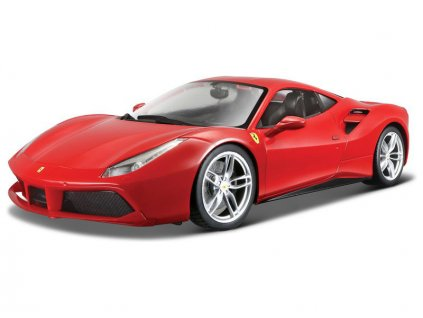 Bburago Signature Ferrari 488 GTB 1:43 červená - BB18-36904