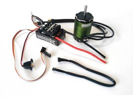 Castle motor 1410 3800ot/V senzored 3.17mm, reg. Mamba X - CC-010-0161-00