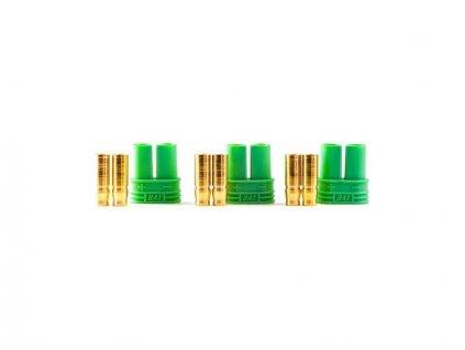 Castle zlacený konektor 4mm samice (3) - CC-011-0076-00