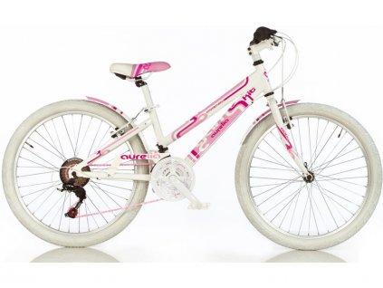 """DINO Bikes - Dětské kolo 24"""" Aurelia Game Kit růžové - DB-1024G"""