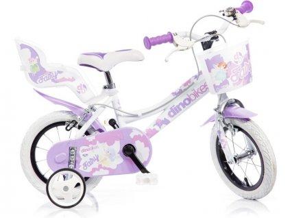 """DINO Bikes - Dětské kolo 12"""" bílé - DB-126RSN"""