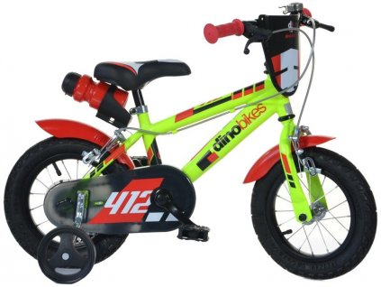 "DINO Bikes - Dětské kolo 12"" černo-červené - DB-412US"