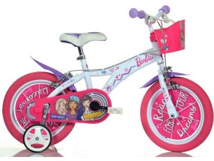 "DINO Bikes - Dětské kolo 14"" Barbie s košíkem - DB-614GBA"