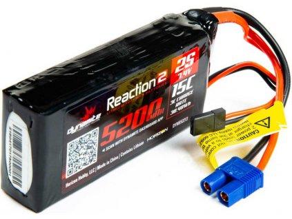 Dynamite LiPo Reaction2 7.4V 5200mAh 2S 15C Rx - DYNB52213