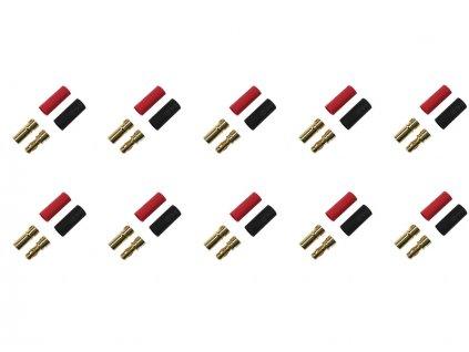 Konektor zlacený 3.5mm (10 párů) - FO-FS-GC03/10