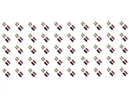 Konektor zlacený 3.5mm (50 párů) - FO-FS-GC03/50