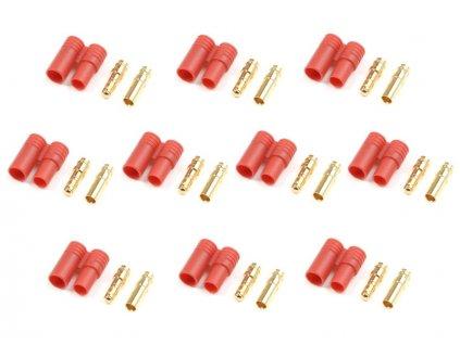 Konektor zlacený 3.5mm s plastovým krytem (5 párů) - FO-FS-GC03P/10