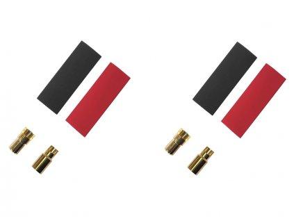 Konektor zlacený 6.0mm (2 páry) - FO-FS-GC06/02