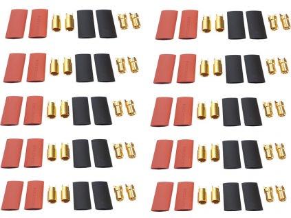 Konektor zlacený 6.0mm (10 párů) - FO-FS-GC06/10