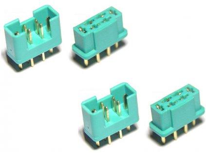 MULTIPLEX konektor samec + samice 2 páry - FO-FS-MPX/02