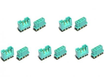 MULTIPLEX konektor samec + samice 5 párů - FO-FS-MPX/05