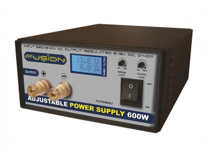 Fusion regulovatelný zdroj 600W 230V/5-15V 0-40A - FO-FS-PS600ADJE