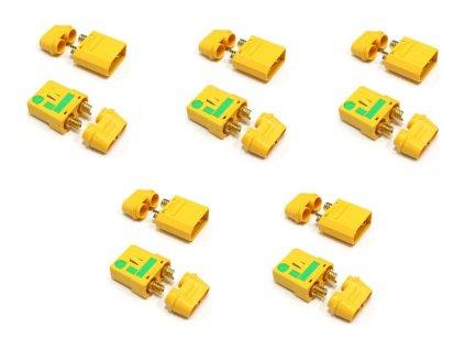 XT90-S konektor Anti Spark samec + samice (5 párů) - FO-FS-XT90S/05