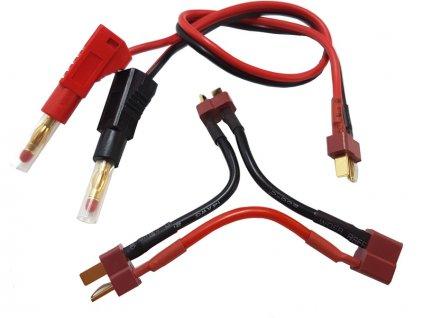 Nabíjecí kabel s banánky - DEANS + 2x sér. DEANS - FO-LGL-CLDNST