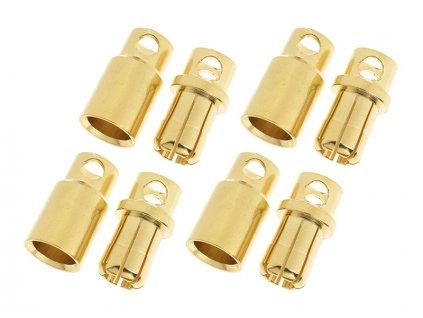 Konektor zlacený 8.0mm (4 páry) - GF-1000-008