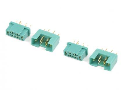 Konektor zlacený MPX (2 páry) - GF-1004-001