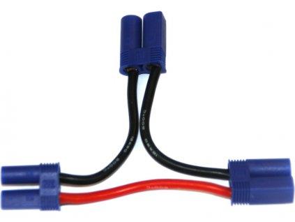 Kabel Y sériový EC5 zlacený 14AWG 12cm - GF-1320-160