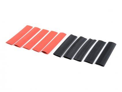 Smršťovací bužírka 9.5mm červená + černá (10)
