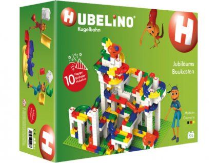HUBELINO Kuličková dráha - set s kostkami Anniversary 525ks - HUB420466