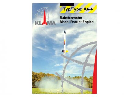 Klima raketový motor A6-4 EL (30ks) - KL-0154