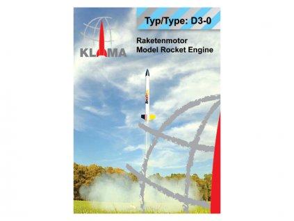 Klima raketový motor D3-0 EL (6ks) - KL-0440