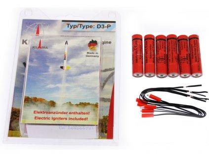 Klima raketový motor D3-P EL (6ks) - KL-0449