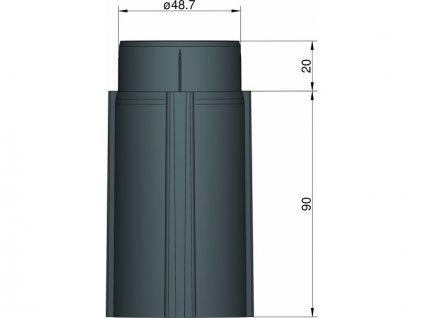 Klima Základna 50mm 3-stabilizátory černá - KL-31050300