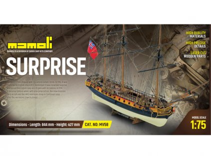 MAMOLI H.M.S. Surprise 1796 1:75 kit - KR-21758