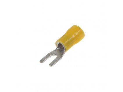 Kabelová vidlička M4 žlutá, 100 ks - 4001603