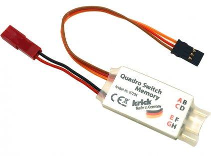 Krick Elektronický spínač Quadro Memory 4 K. - KR-67204
