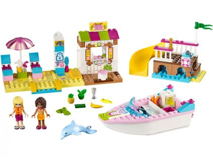 LEGO Juniors - Andrea a Stephanie na dovolené na pláži - LEGO10747
