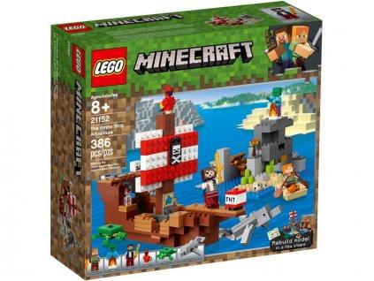 LEGO Minecraft - Dobrodružství pirátské lodi - LEGO21152
