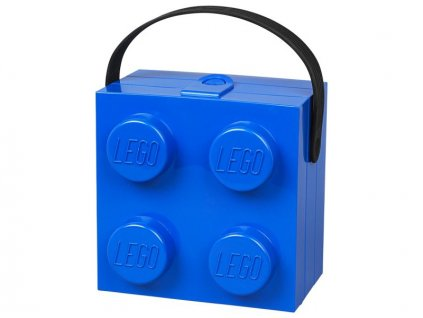 LEGO box s rukojetí 166x165x117mm - modrý - LEGO40240002
