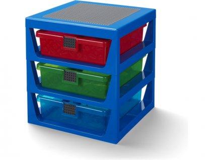 LEGO organizér se třemi zásuvkami - modrá - LEGO40950002