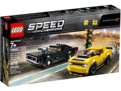 LEGO Speed Champions - 2018 Dodge Challenger SRT Demon a 1970 Dodge Charger R/T - LEGO75893