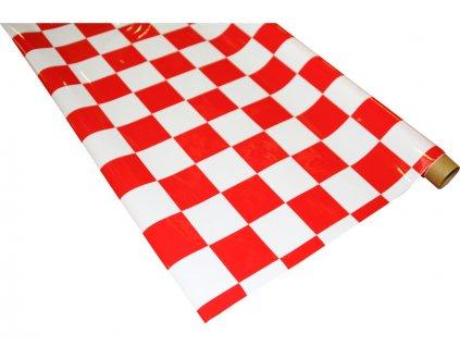IronOnFilm - kostkovaná bílo/červená velká 0.6x2m - NA022-023