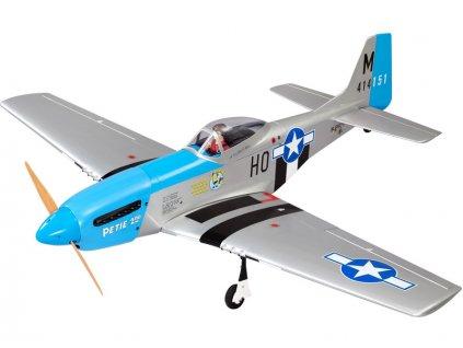 P-51D Mustang 20cc 1.7m ARF modrý - NA8714B