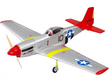 P-51D Mustang 20cc 1.7m ARF červený - NA8714C