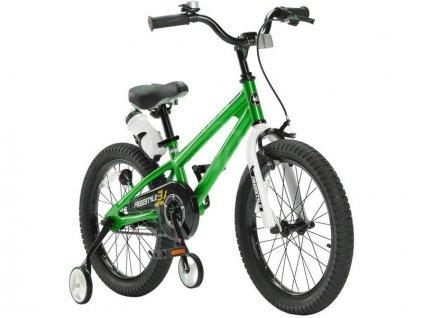 """RoyalBaby - Dětské kolo 18"""" Free Style zelené - RB-667439"""