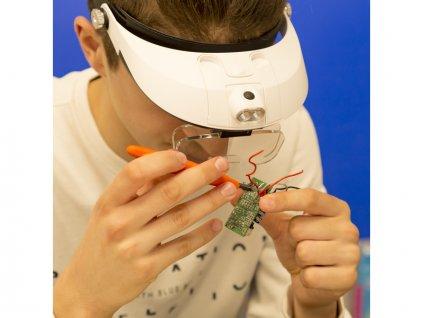 Lightcraft čelenka s lupou a LED osvětlením