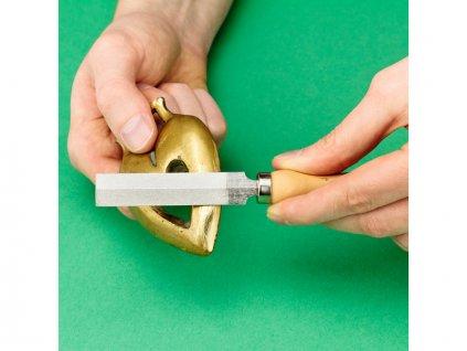 Modelcraft diamantový pilník s dřevěnou rukojetí - SH-PFL6008