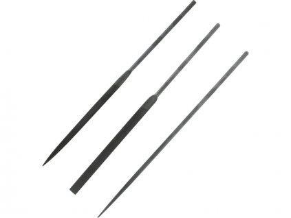Modelcraft precizní jehlové pilníky 160mm (sada 3ks) - SH-PKF3443/2