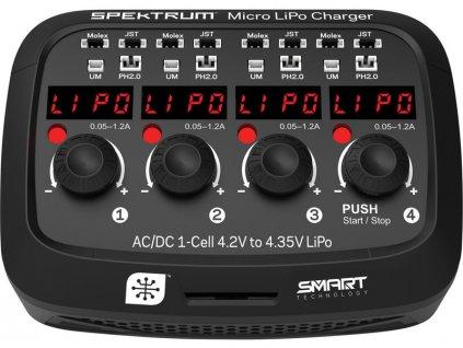 Spektrum nabíječ Micro LiPo AC/DC - SPMXC1040I