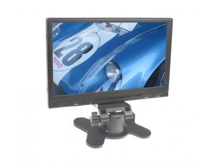 """LCD monitor 7"""" do opěrky s IR vysílačem černý - ic-705tblack"""