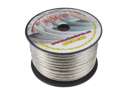 Kabel 20 mm, stříbrně transparentní, 25 m bal - 31122