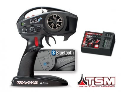 Traxxas vysílač TQi 4 kan., BlueTooth modul, přijímač TSM - TRA6507R