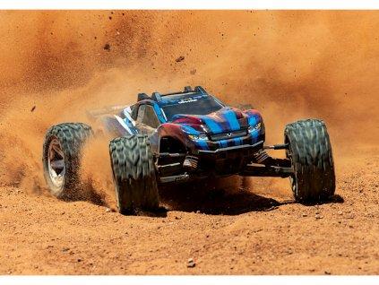 Traxxas Rustler 1:10 VXL 4WD TQi RTR červený - TRA67076-4-RED