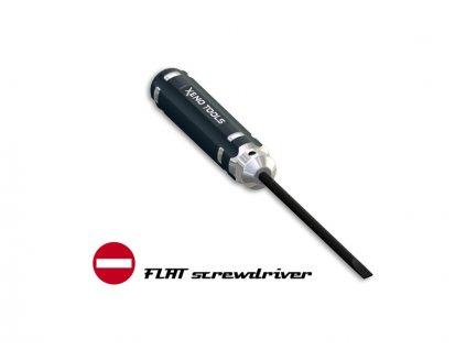Šroubovák plochý CNC PRO 4.0mm dlouhý - XT-04140L